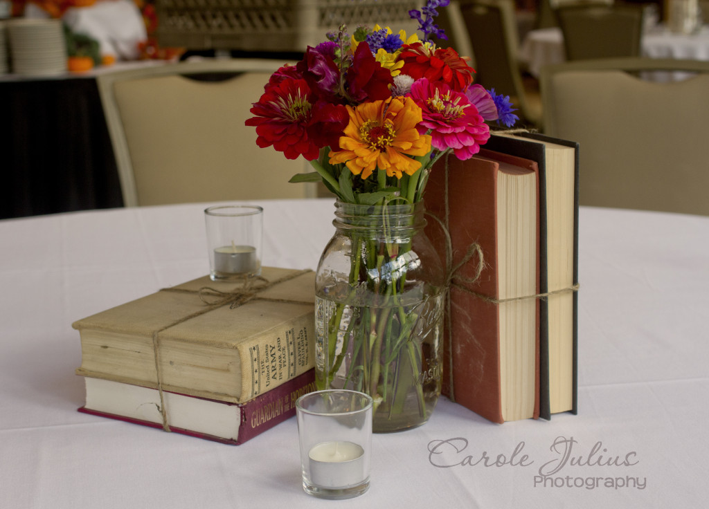 Library Theme Centerpiece